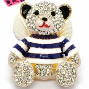 🐻Cute Crystal Teddy Bear With T-Shirt Brooch🐻